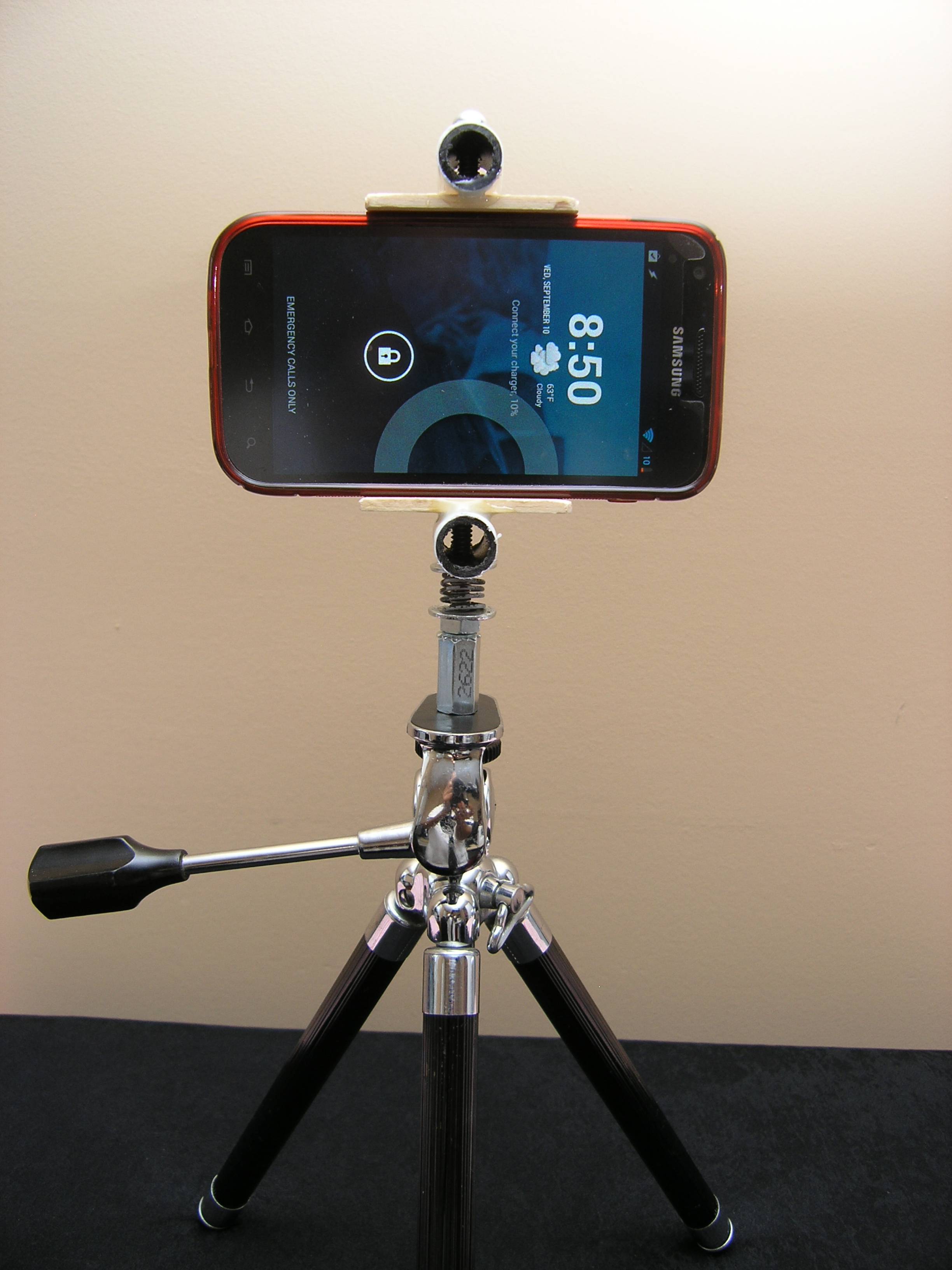 diy iphone tripod diy how to make your own smartphone tripod mount iphone 3382